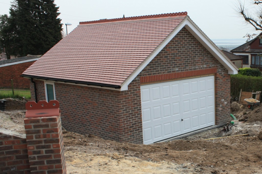 Garage roof finished solent roof building for Garage extension cost estimate