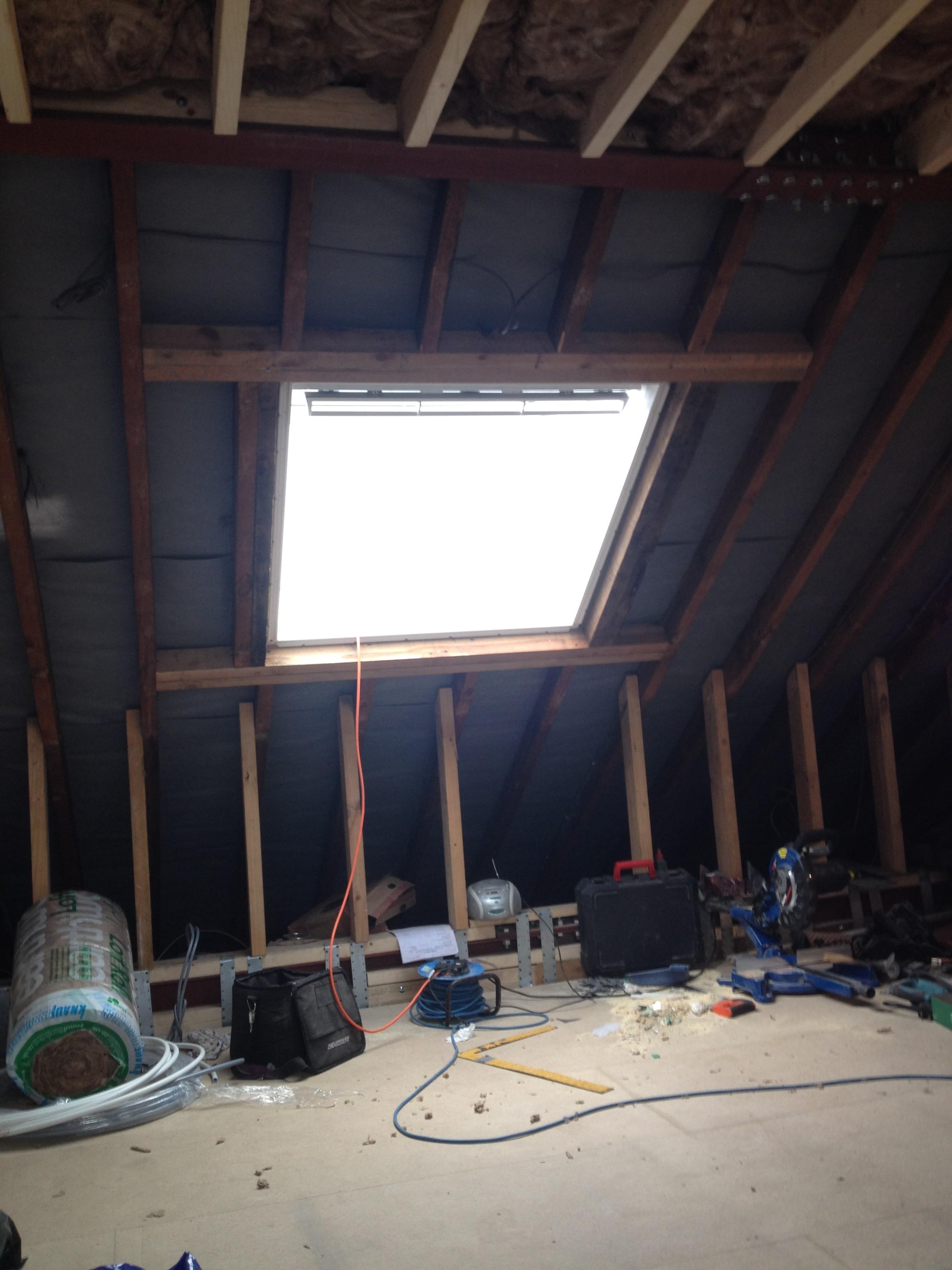 Loft conversion - Velux window