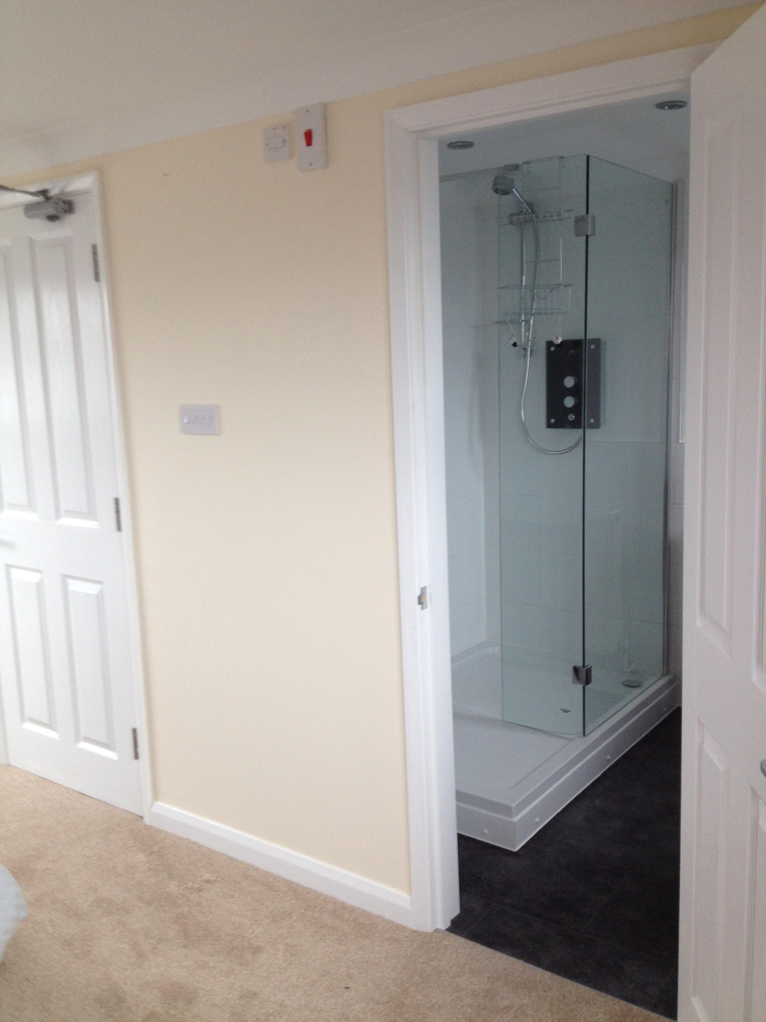 Loft conversion - shower