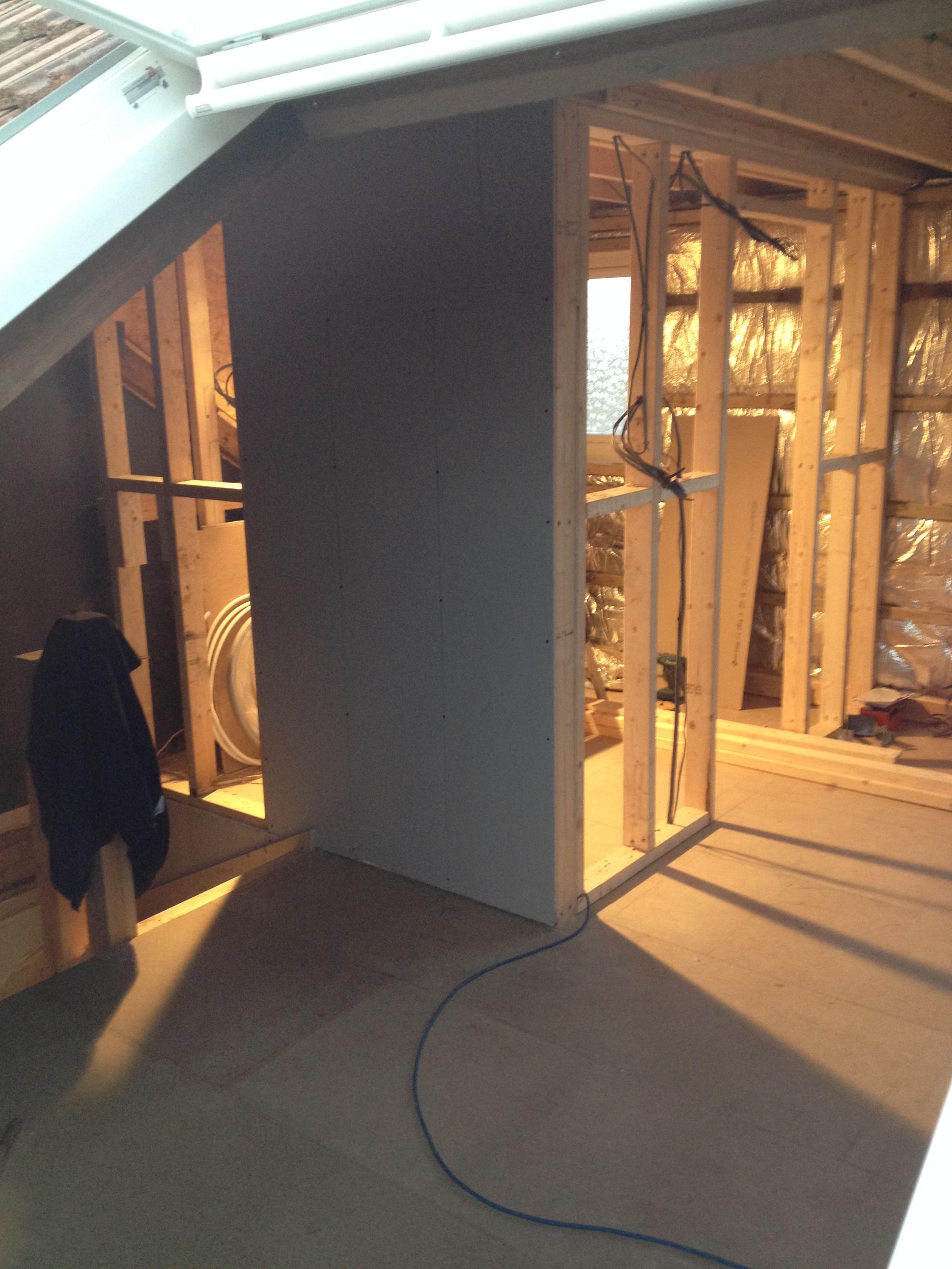Loft conversion - studwork for en-suite