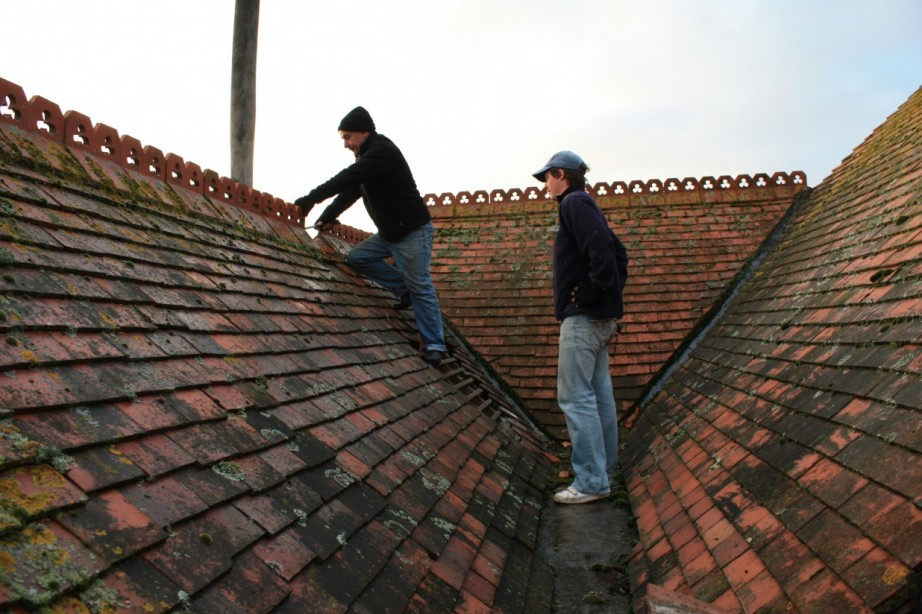 stripping the roof